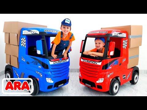 فلاد-ونيكيتا-مجموعة-من-مقاطع-الفيديو-حول-سيارات-الأطفال