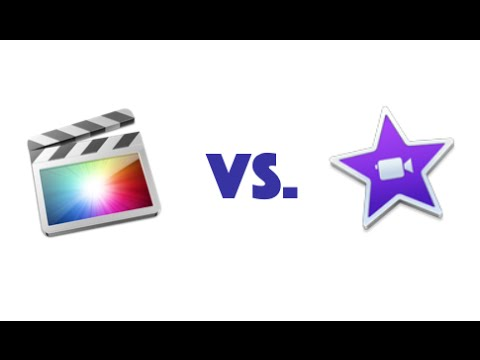 iMovie vs. Final Cut Pro X