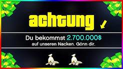 OMG! ROCKSTAR SCHENKT DIR 2.700.000$ IN GTA ONLINE! 🤑 MEGA GELD TRICK! (GTA 5 News)