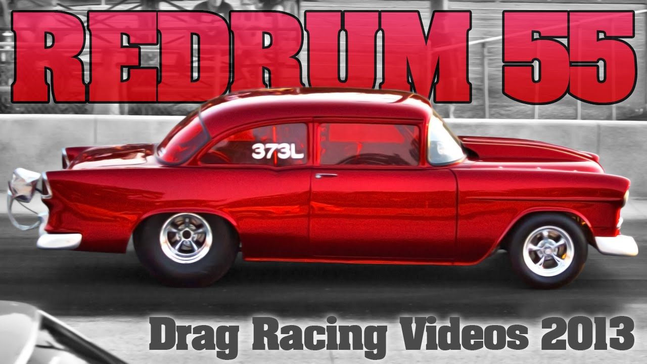 55 Chevy Drag Racing At Kilkare Dragway Murdered Out In