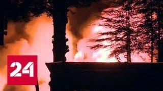 На севере Лондона пожарные не могут потушить пожар в складских помещениях   Россия 24