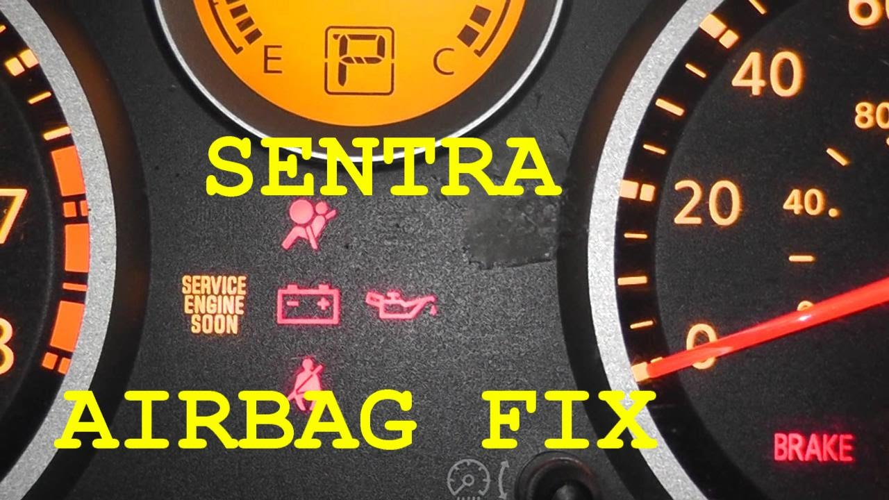 Nissan Sentra Airbag Light Fix - No Tools Required!