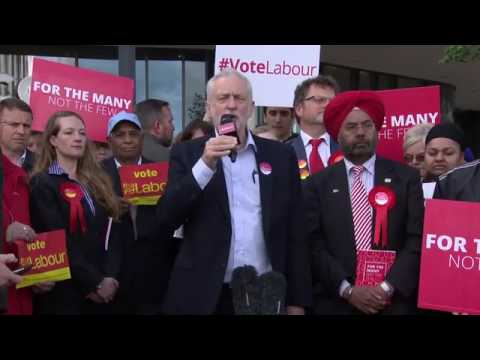 Jeremy Corbyn visits Telford where he grew up
