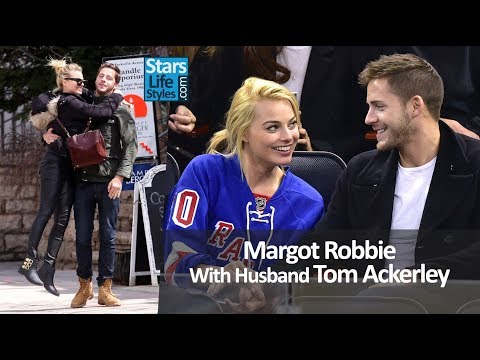 Margot Robbie With Husband Tom Ackerley | Celebrity Couples