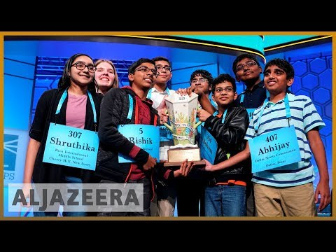 US Spelling Bee: First 8 contenders share victory