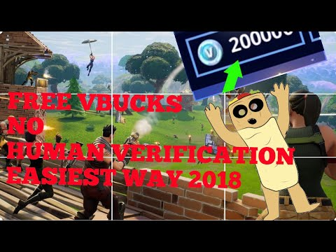 How To Get Free Vbucks No Human Verification 2018 Easiest Way Youtube