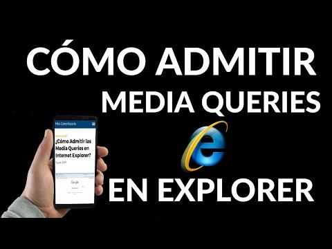 Cómo Admitir las Media Queries en Internet Explorer