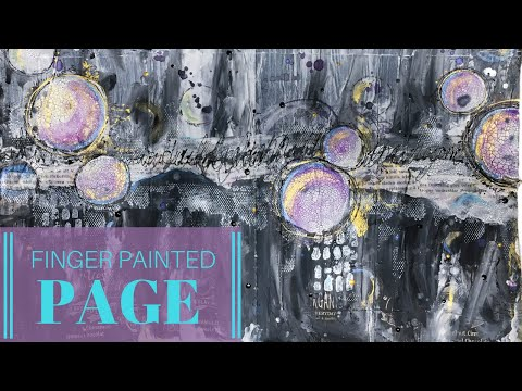 Easy Abstract Art Journal Background