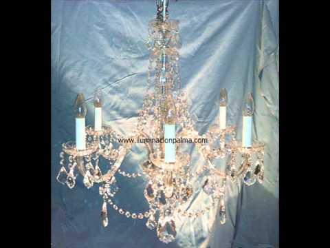 Venta de lámparas antiguas de cristal