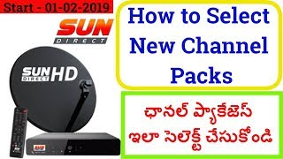 Sun Direct DTH | Sun Direct SD HD Channels Packs and Rates |How to Selected Channels Sun Direct