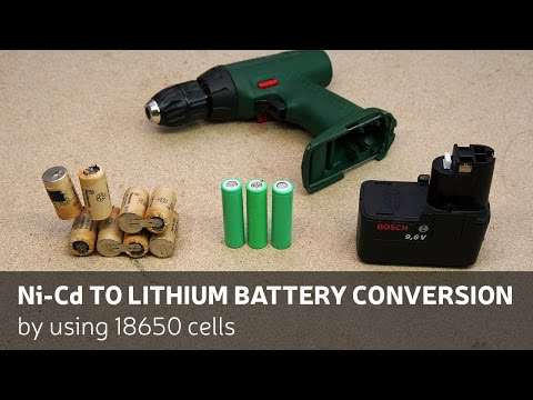 DIY: Ni-Cd To Lithium Battery Conversion By Using 18650 Cell