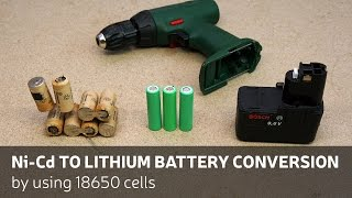 DIY: Ni-Cd To Lithium Battery Conversion By Using 18650 Cells