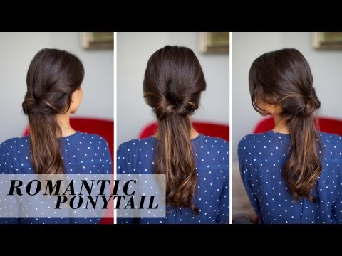 Soft Romantic Ponytail Hairstyle