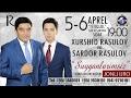 Afisha Xurshid Rasulov va Sardor rasulov 5 6 aprel kunlari konsert beradi 2017