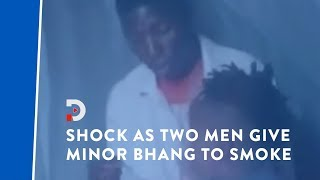 Shock as two men in viral video are seen giving minor bhang to smoke