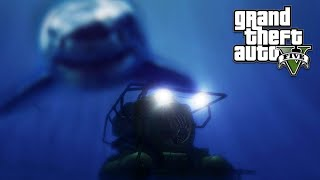 GTA 5 MEGALODON ATTACK! Easter Egg Location Found Story Mode (GTA 5 Online)
