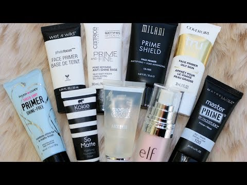 Best and Worst Drugstore Face Primers | 9 WEAR TESTS!