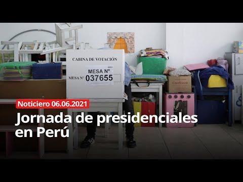 Jornada de presidenciales en Perú - NOTICIERO 06/06/2021