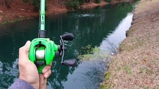 AGGRESSIVE Bass SMASHES Lure While Bank Fishing (LOADED W/ FAT BASS)