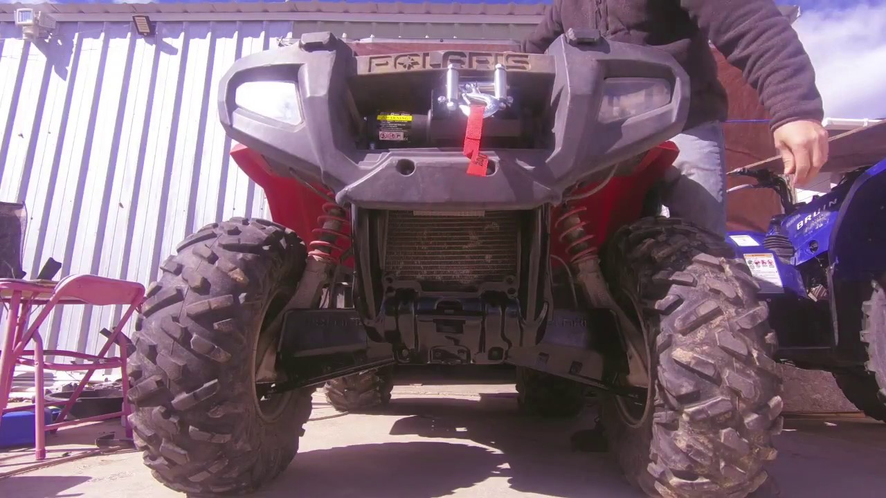 hight resolution of mad dog winch insatll on 2006 polaris sportsman 500 4x4