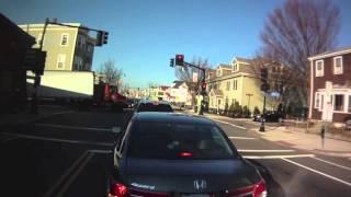 Incredible Truck Turn on Narrow Street