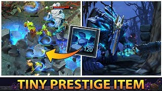 FIRST Pro Gameplay With New TI9 Tiny Prestige Item - EPIC New Avalanche Spell Effect & Animation