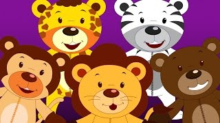 Five Little Teddy Bears - Children Rhymes I Nursery Songs I Kindergarten Babies Rhyme I Toddler Kids
