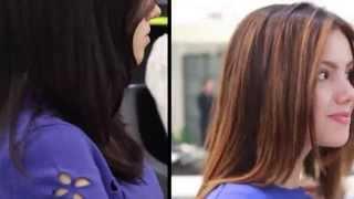 видео Техника венецианское мелирование на темные и русые волосы