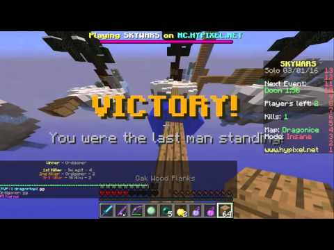 EPIC SLIMEBALL CLUTCH ESCAPE + HACKERS ( Hypixel Skywars #5 )