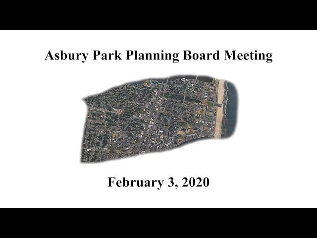 Asbury Park Planning Board - February 3, 2020