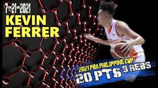 Kevin Ferrer Full Highlights 20 pts 9 rebs vs Phoenix Fuel Masters   7-21-2021