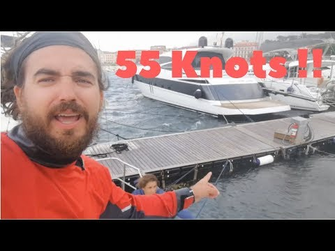 55 Knots - Mediterranean Storm in Napoli 28th October