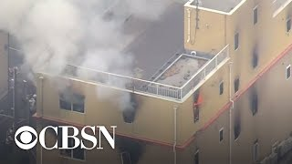 Fire at Japanese animation studio leaves dozens dead