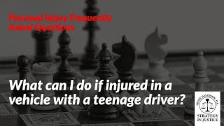 What can I do if injured in a vehicle with a teenage driver? | Personal Injury Specialist Boynton