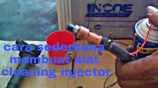 Cara membuat alat cleaning injector mobil(a simple way to make an injector cleaner from a hose)