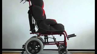 видео Детская инвалидная коляска  FS985LBJ