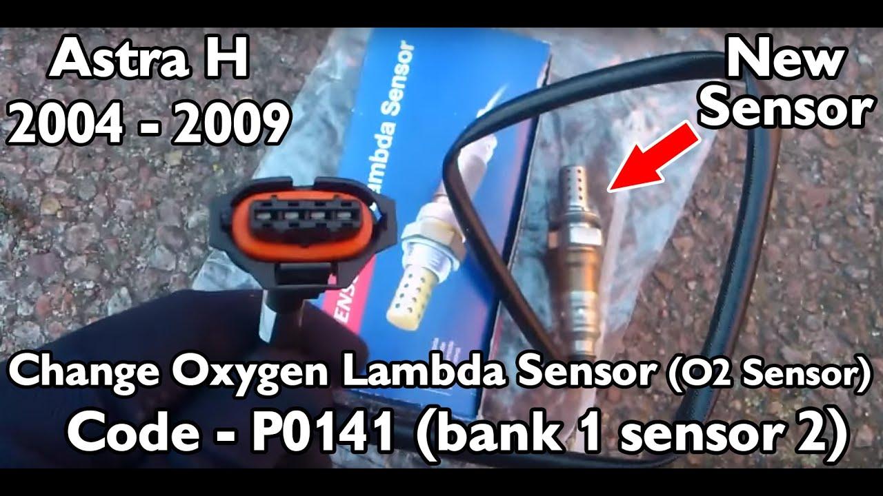 Astra H 2006 How to replace Oxygen lambda sensor P0141 (bank1 sensor2)  YouTube
