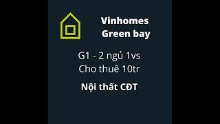 image Vinhomes Green Bay - G1 | Căn hộ 2 ngủ 1vs Cho thuê 10tr | Nhà Đẹp Giá Tốt