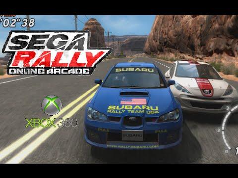 SEGA Rally Online Arcade playthrough (Xbox 360)