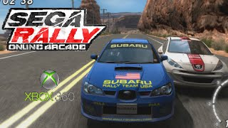 SEGA Rally Online Arcade playthrough (Xbox 360)