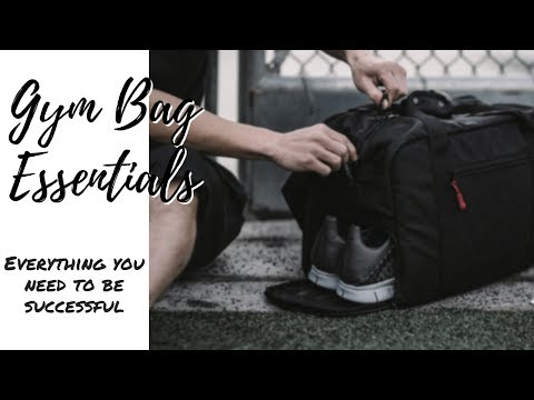 Everything you need in your gym bag | Gym bag essentials