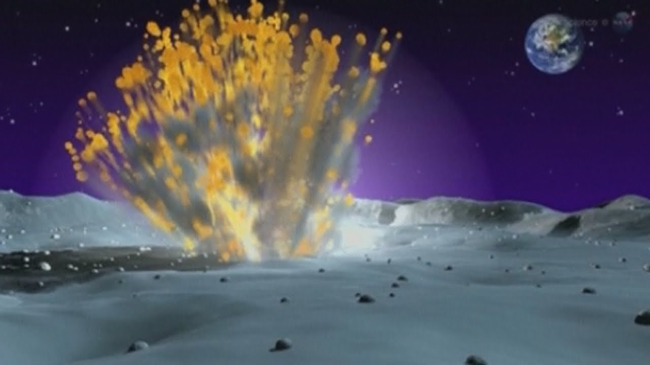 Lunar meteor explosion: Space rock hits moon - YouTube
