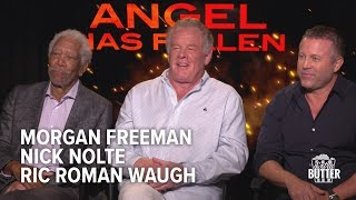 Angel Has Fallen Interview | Morgan Freeman, Nick Nolte & Ric Roman Waugh | Extra Butter