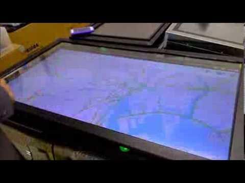 タッチパネルデジタルサイネージ スマートフォンOS駆動マルチタッチ