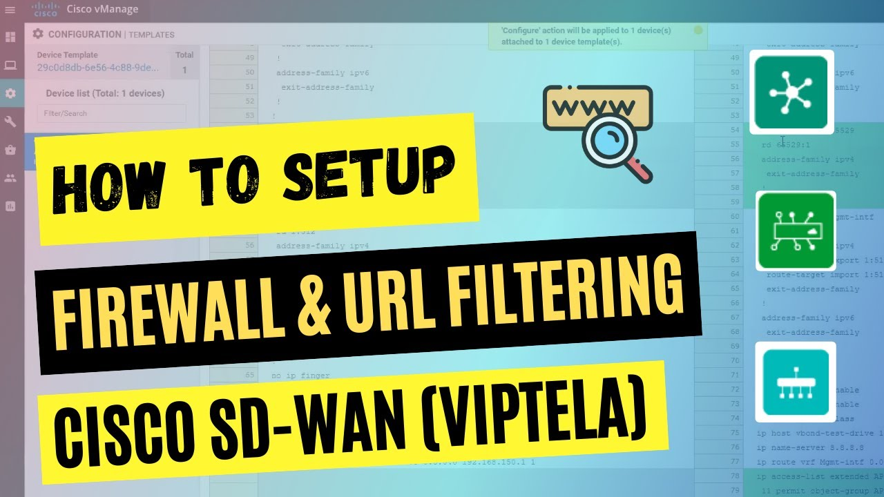 Cisco Sd Wan Security Lab Demo Setup Firewall Url Filtering Youtube