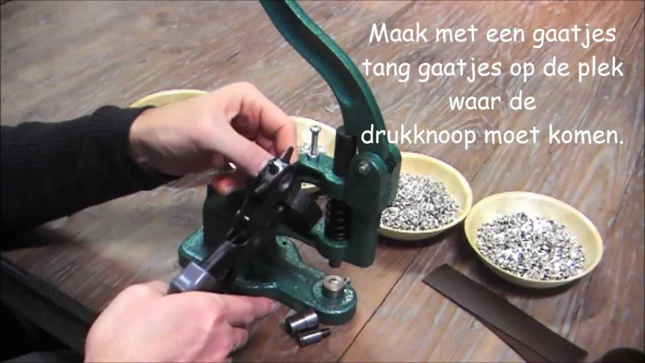 Drukknoop Maken In Leer Of Stof Bead It Almere Youtube