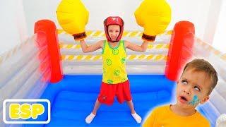Vlad y Nikita practican deportes y quieren ser fuertes