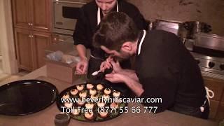 Chef Marcel Vigneron Serving Beluga Caviar - Beverly Hills Caviar