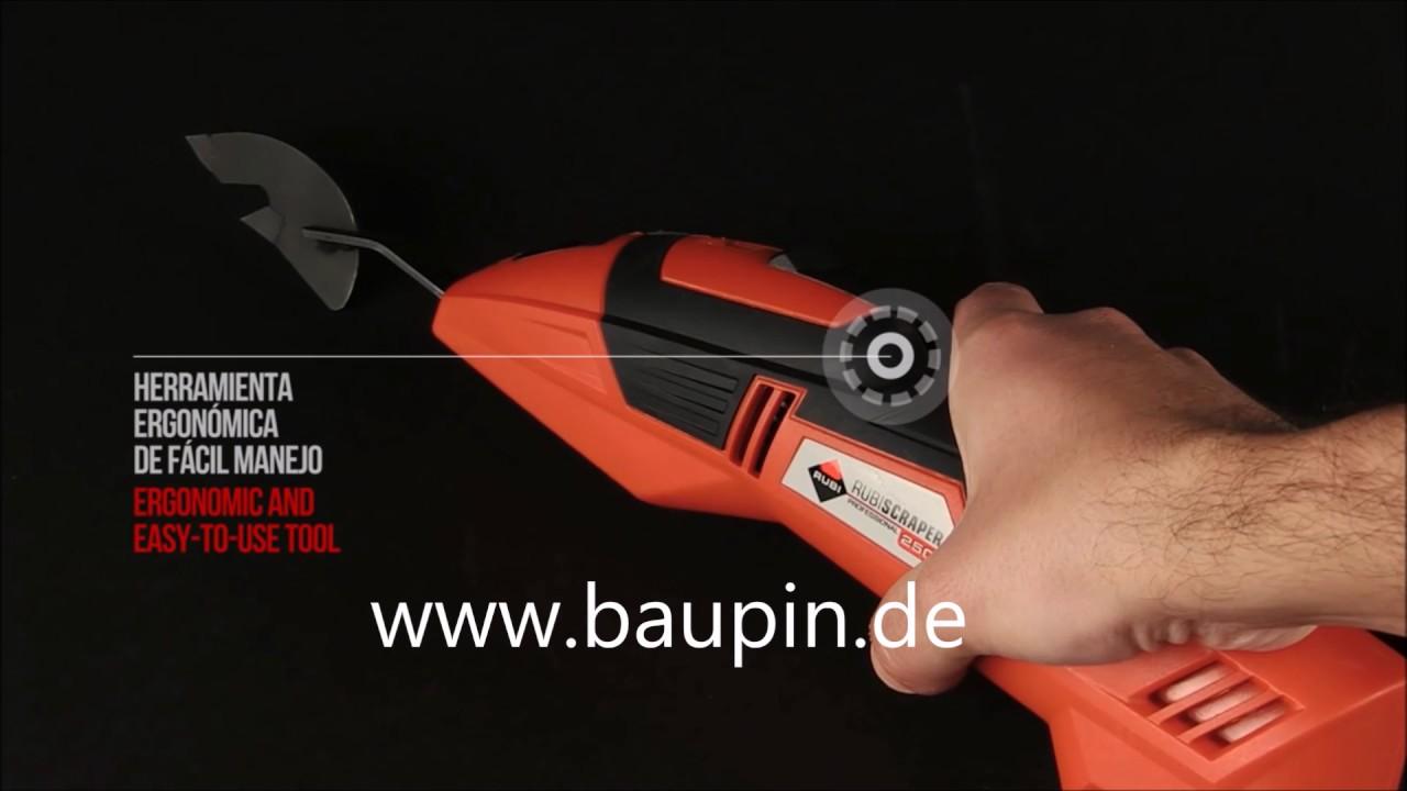 rubi scraper 250 elektrische fugenkratzer baupin - youtube