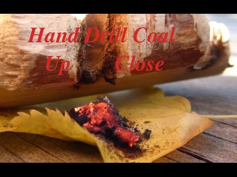 Hand Drill Coal Close Up Look